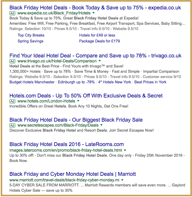 Black Friday hotel deals