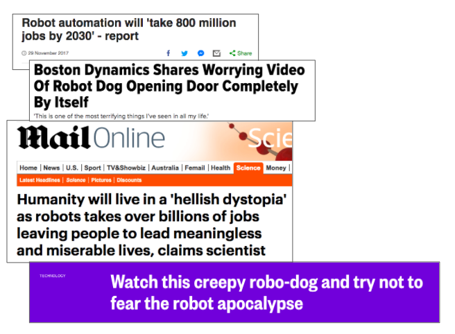 Scared of technology headlines