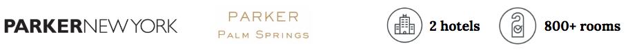 Parker Hotels header