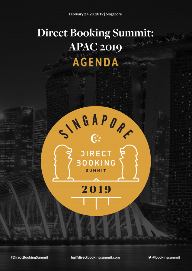 Direct Booking Summit APAC agenda