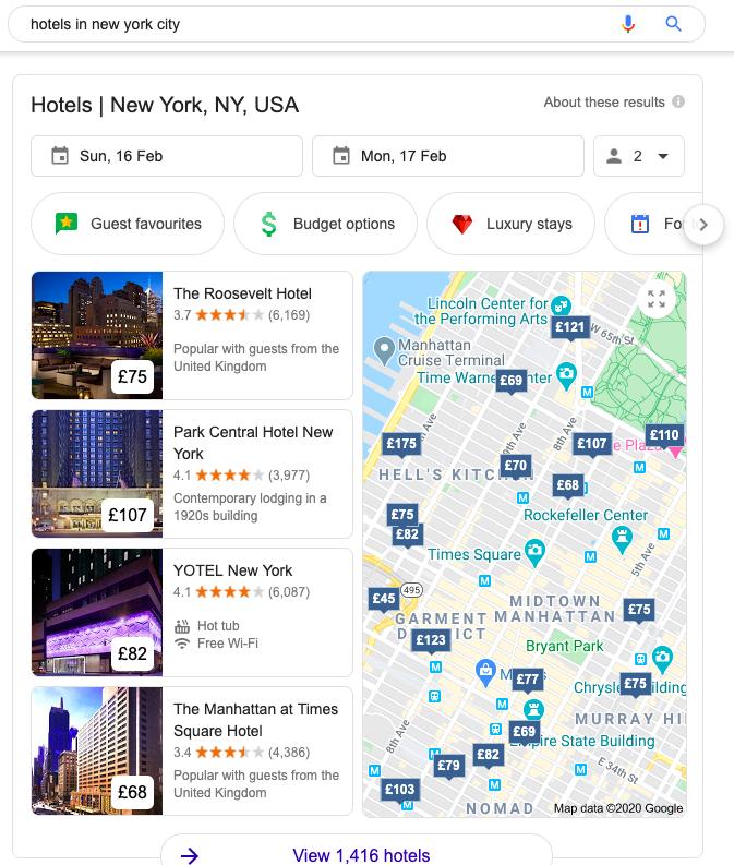 Google Hotels local SEO