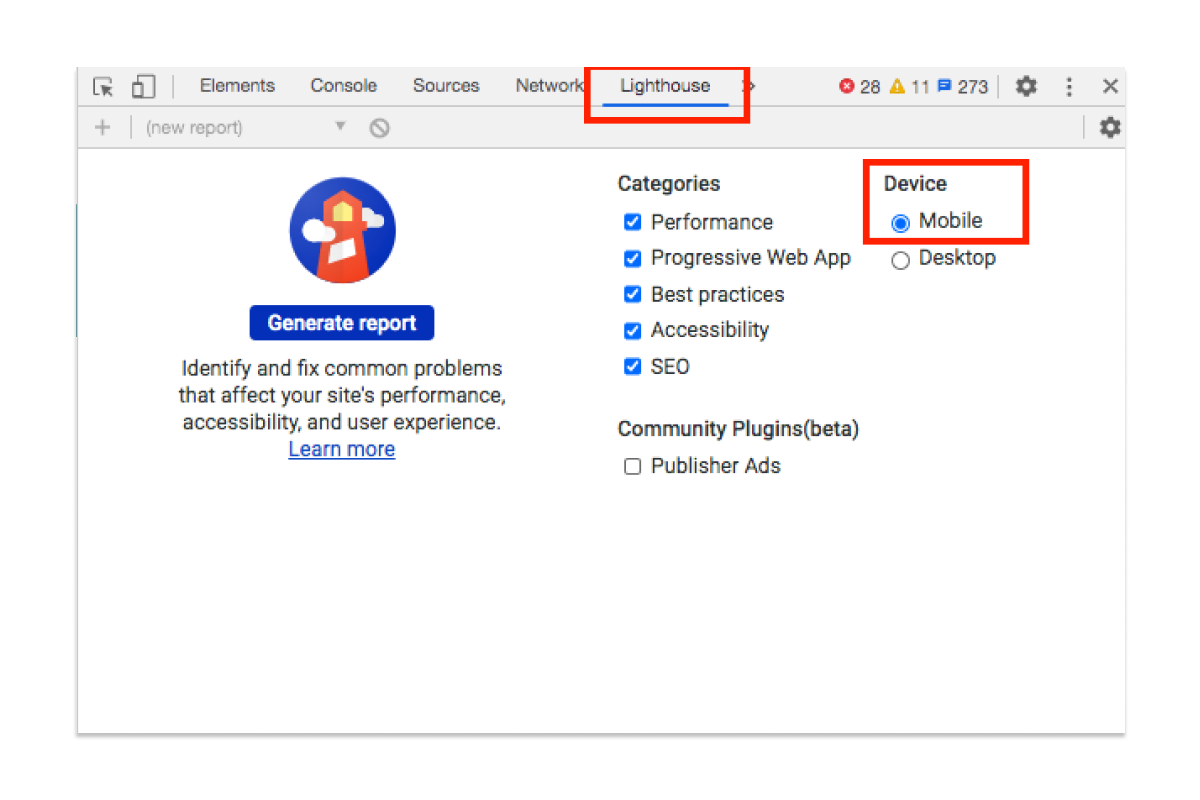 Google Lighthouse para realizar una auditoría web mobile
